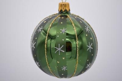 Vianočná guľka 7 cm, zelená