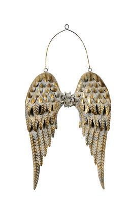 Anjelské krídla zlaté 47cm + 18cm zavesenie