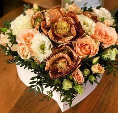 Kvetinový box rôzne farebné kvety, veľký