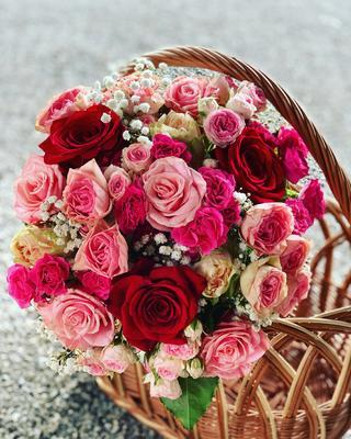 Kytička z ruží, 15 ks