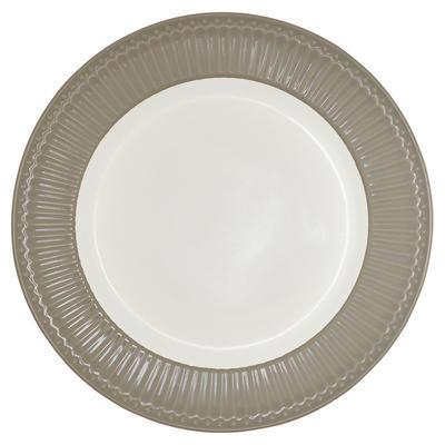 GreenGate tanier plytký Alice warm grey