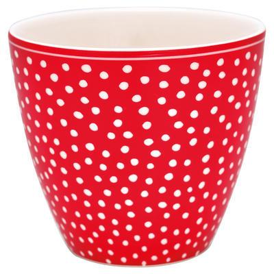 GreenGate šálka cappucino/latte Dot red - 1