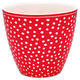 GreenGate šálka cappucino/latte Dot red - 1/2