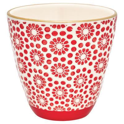 GreenGate šálka cappucino/latte Kelly red w/gold - 1