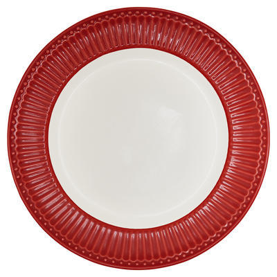 GreenGate tanier plytký Alice red - 1