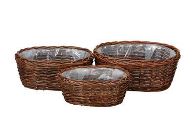 Košík oválny - obal na rastlinu