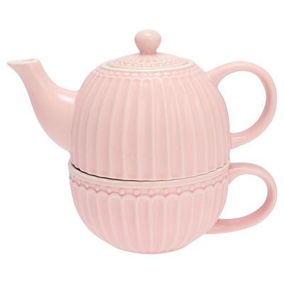 GreenGate šálka s čajníkom Alice pale pink