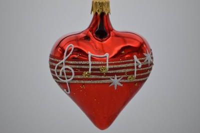 Vianočná ozdoba srdiečko