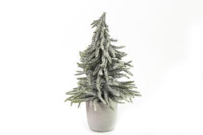 Dekoračný zasnežený stromček Lucien 32cm/40cm, Stromček biely Lucien L