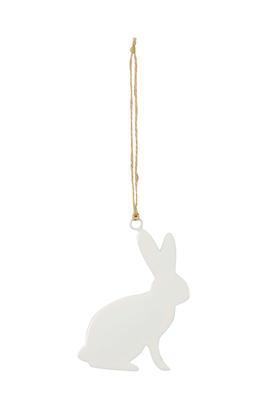 Závesná dekorácia biely zajačik
