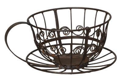Kovový košík v tvare šálky 31x25x14cm