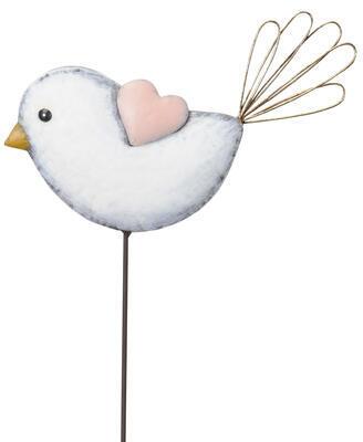 Vtáčik 25x2,5x18cm + 59cm tyčka na zapichnutie