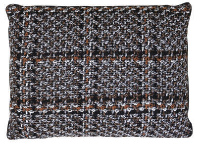 Dekoračný vankúš 60x45 cm PADRAO dark brown-orange - 1