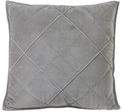 Dekoračný vankúš 50x50 cm DIAMOND velvet cement grey