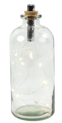 Fľaška sklo OLEG  s LED svetielkom