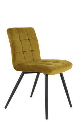 Jedálenská stolička OLIVE velvet ocher-black - 1