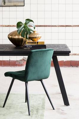 Jedálenská stolička OLIVE velvet dark green-black - 1