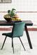 Jedálenská stolička OLIVE velvet dark green-black - 1/6