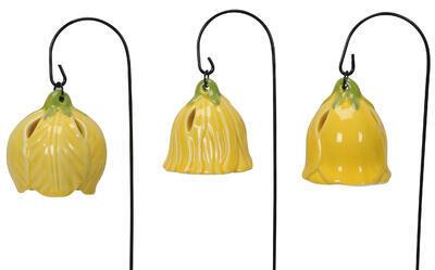 Keramický zvonček - závesná dekorácia výška 6,5cm