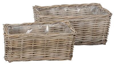 Ratanový košík, hrant, truhlík, rozmer 46x27xH20cm