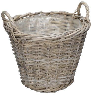 Ratanový košík- obal na rastlinu priemer 26cm a 31cm, priemer 31cm výška 25cm + rúčky