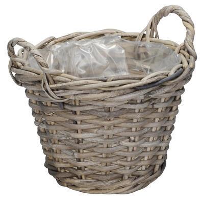 Ratanový košík- obal na rastlinu priemer 26cm a 31cm, priemer 26cm výška 19cm + rúčky