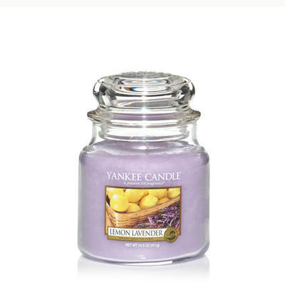 Yankee Candle Lemon Lavender, stredná