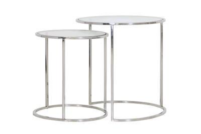 Stolík DUARTE nikel-glass, veľký Ø50cmx 52cm - 1