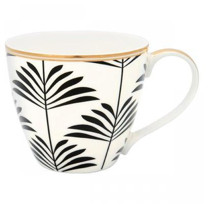 GreenGate šálka na čaj/cappucino Maxime black