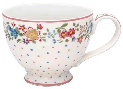 GreenGate šálka na čaj/cappucino Belle white
