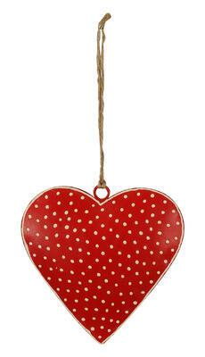 Srdce - závesná dekorácia 6,5cm alebo 12cm, rozmer 12cm x 12cm - 1