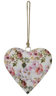 Srdce - závesná dekorácia 20x4x20cm + 18cm špagát