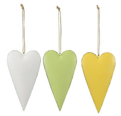 Srdce - závesné srdiečko 9,5x17,5cm, biele
