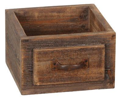 Šuflík drevený - bednička 20x19x12cm