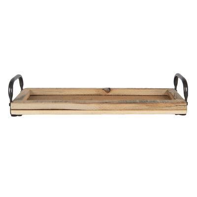 Tácka/ podnos drevo/kov 41*14*7 cm - 1