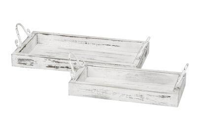 Tácka/ podnos drevo šírka 30,5 al. 38cm, väčšia 38x20x9cm