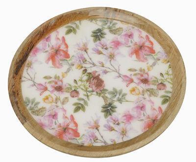 Tácka/ podnos - drevený tanier 25x4cm