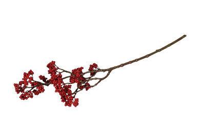 Konár umelý kvet natur červené plody 62cm
