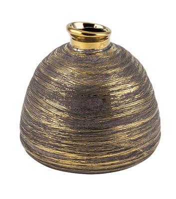 Váza zlato-hnedá, 16,5cm