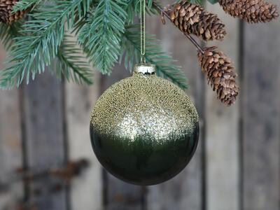 Vianočná guľka sklenená 10cm - 1