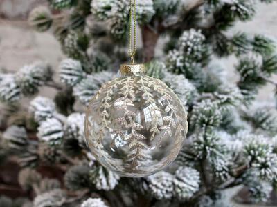 Vianočná guľka sklenená 8cm - 1