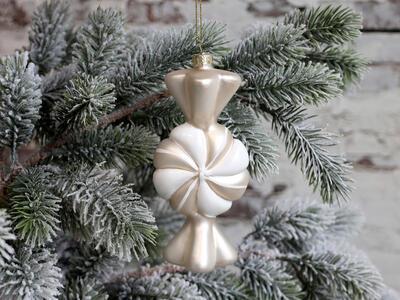 Vianočná guľka cukrík 13,5cm x 6cm x 5cm - 1
