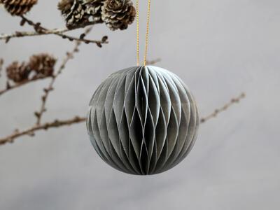 Vianočná origami ozdoba guľka priemer 8cm - 1