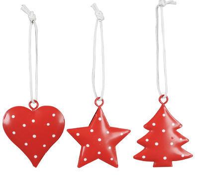 Vianočná ozdoba na stromček srdce/ stromček/ hviezdička 4cm