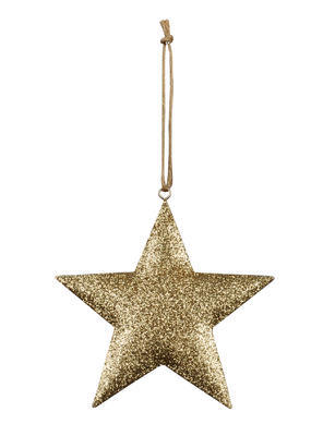 Vianočná ozdoba na stromček trblietavá hviezda 11,5cm