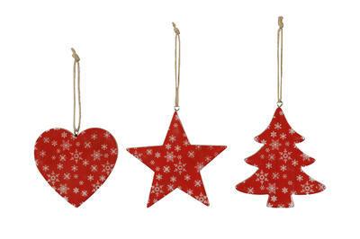 Vianočná ozdoba na stromček srdce/ stromček/ hviezdička 4cm, srdce