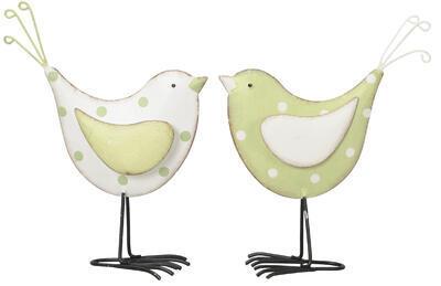 Vtáčik 14,5x5,5x16,5cm, zelený