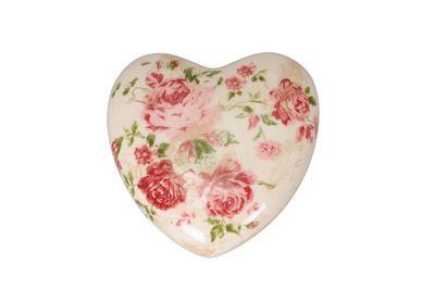 Srdce dekorácia 11,5x11,5x4,5cm