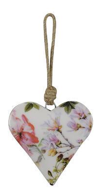 Srdce - závesná dekorácia 10x2x10cm + 10cm špagát
