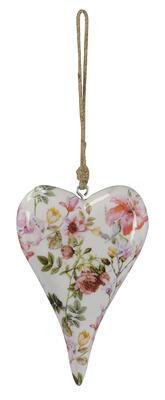 Srdce - závesná dekorácia 13x4x20cm + 16cm špagát